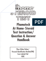 At Home Steroid Testing Guide