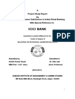 Ashish Project Report on Icici Bank