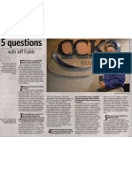 5 Questions with Jeff Frable in Tulsa World 8-6-10
