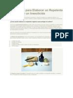 Repelente Orgánico e Insecticida