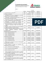 Presupuesto Refer en CIA Catalogo de Conceptos Con Presios