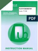 7140 Plethysmometer Manual