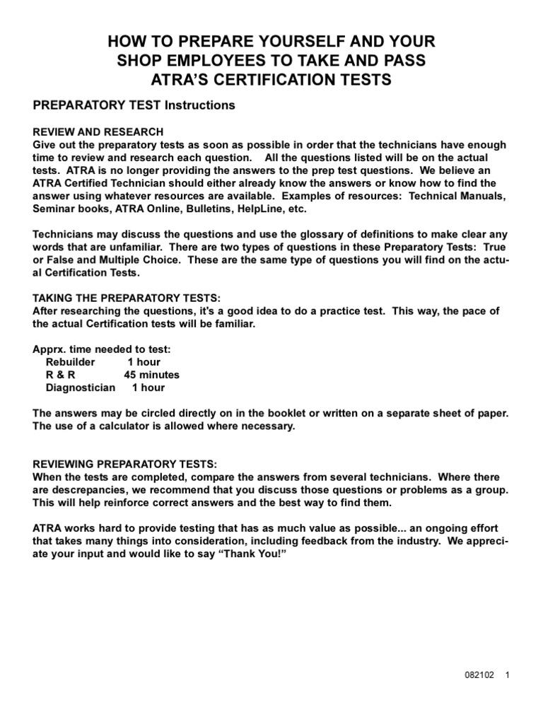 Prep Test Manual Transmission Mechanics E40d Wiring Harness Testing