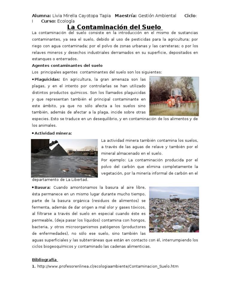 La contaminaci n del suelo en el per for Informacion sobre el suelo