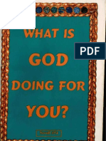 What is God Doing for You?