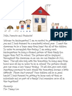 Family Picture Letter