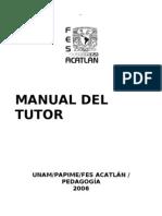 Manual Del Tutor de La Lic. en Pedagogia