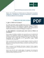 PREGUNTAS FRECUENTES_MÁSTER SECUNDARIA