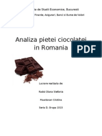 Analiza Pietei Ciocolatei in Romania
