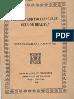 Folklore and Folklanguage