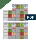 Schedule 1st Sem 11-12
