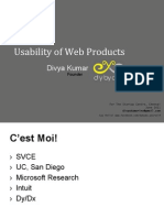 D001 Usability of Web Products
