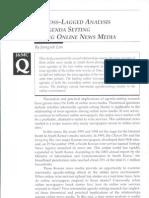 A CROSS-LAGGED ANALYSIS of Agenda Setting Among Online News Media, 2006