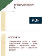 Transportation Model Pgdm