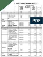Tariff Schedule 2011 12