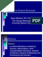 Patient Restraint (2006)