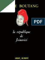 Boutang Pierre - La République de Joinovici