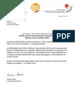 Landtagsanfrage 2 über Verwendung der Landesgelder durch Kaufleute Aktiv - Meran