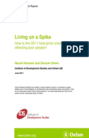Living on a Spike: How is the 2011 food price crisis affecting poor people?