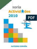 Autismo España Memoria 2010