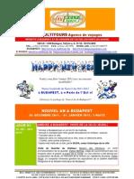 NOUVEL AN 2011-2012 A BUDAPEST EN HONGRIE - Package de voyage pour Groupes,Vers.B.
