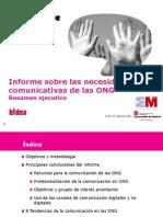 Resumen Ejecutivo Informe Necesidades Comunicativas ONG