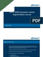 Market Segmentation Survey 2008