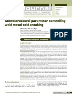 Micro Structural Parameter Controlling Weld Metal Cold Cracking