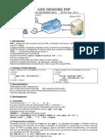Aide Memoire PHP