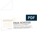 Invocation de Paul Schütze sur webSYNradio