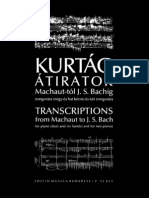 Bach - Transcriptions Kurtag 4 Mains