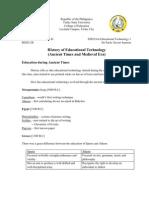 History of Edtech Wriiten Report