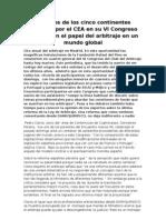 Cita Anual Del Arbitraje en Madrid