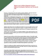 Lettera aperta al Ministro per la Difesa Rognoni di mario ciancarella fatta pubblicare da Sandro Marcucci sul Tirreno di Pisa il 28 gennaio 1992
