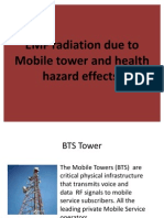 EMF Radiation Due to Mobile Tower and Health
