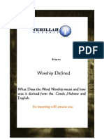 Worship Defined