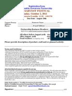 2011 Harvest Festival Registration Form