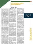 Educación - Declaración de Principios sobre los Entornos Universitarios y Educativos