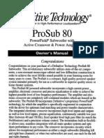 Pro Sub 80 Manual