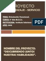 Proyecto Aprendizaje Servicio