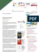 Better Risk Communication - Ndubuisi Ekekwe - The Conversation - Harvard Business Review