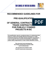 PCC Pre Qualification Guideline Sept06
