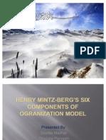 MINTZ BERG'S FIVE COMPONENTS OF OGRANIZATION MODEL(finalized)