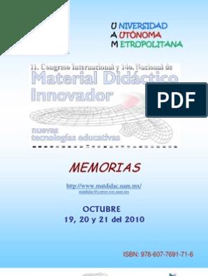 Calendario Academico Ucm 2020 2020.Memorias2010 Tecnologia De Informacion Y Comunicaciones Maestros
