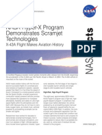 NASA Facts Hyper-X Program Demonstrates Scramjet Technologies