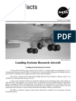 NASA Facts Landing Systems Research Aircraft