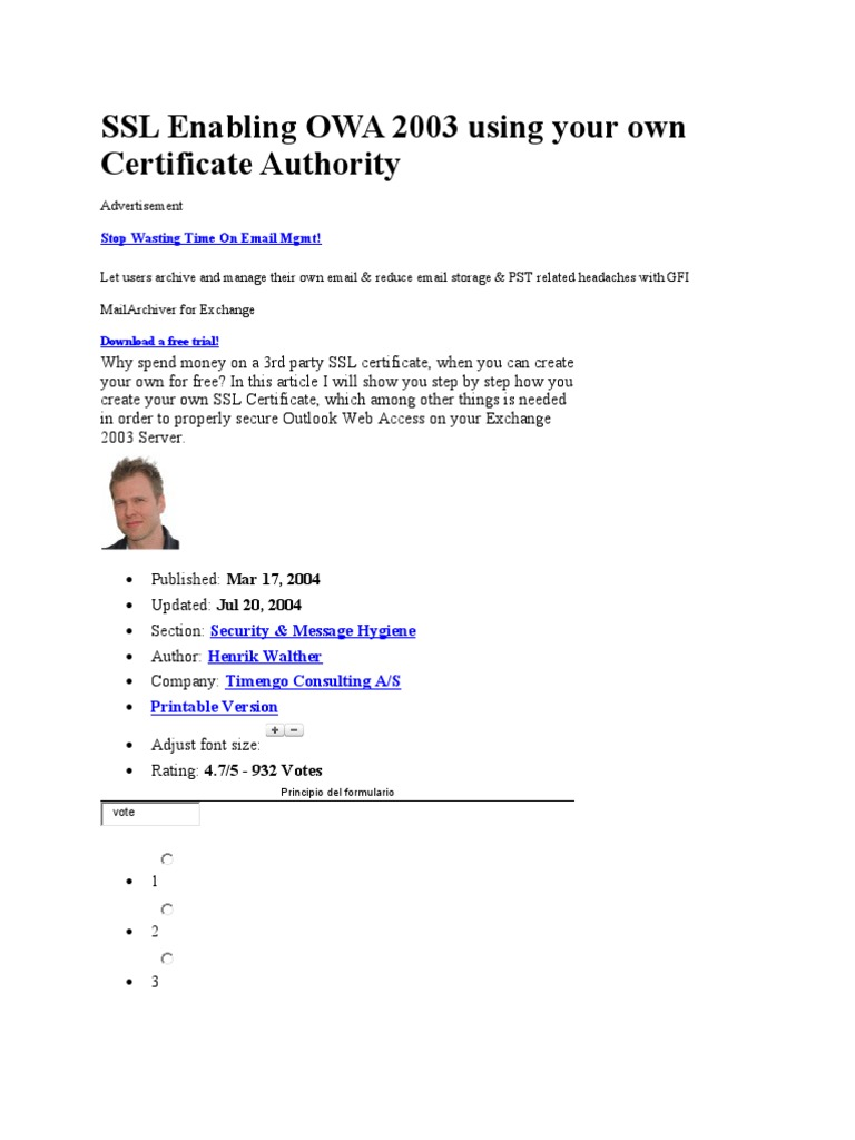 Ssl enabling owa 2003 using your own certificate authority ssl enabling owa 2003 using your own certificate authority transport layer security public key certificate 1betcityfo Images