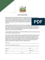 artist release form