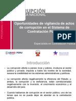Vigilancia de actos de corrupción en el Sistema de Contratación pública