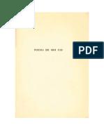 Mio Cid (edición paleológica de Menéndez Pidal)